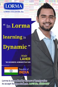 Itish Laher BS Business Administration