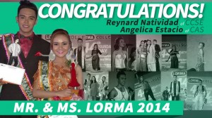 Mr and Ms Lorma2014