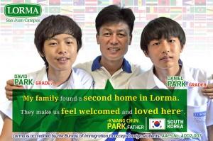 Kwang Chun Park Father of Grade 7 David Park Grade 8 Daniel Park